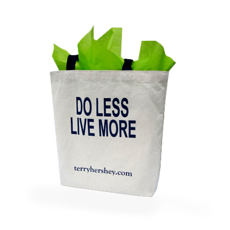 """Do Less, Live More"" Heavy-Duty Canvas Tote"
